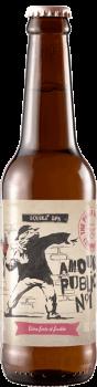 Bouteille de bière AMour Public N°1 Double IPA Brasserie Piggy Brewing Company