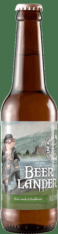 Bouteille de bière Beer Lander New England IPA Brasserie Piggy Brewing Company
