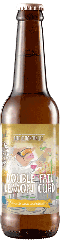 Bouteille de bière Double Fail Lemon Curd Brasserie Piggy Brewing Company