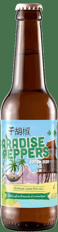 Bouteille de bière Paradise Pepper pale ale Brasserie Piggy Brewing Company