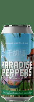 Canette de bière Paradise Pepper pale ale Brasserie Piggy Brewing Company