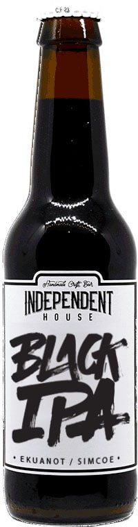 Bouteille de bière Black IPA Brasserie Independent House