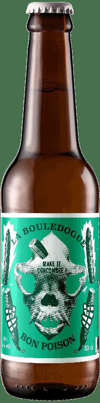 bière Lager Concombre brasserie la Bouledogue Bon Poison