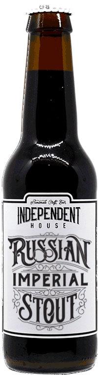 Bouteille de bière Russian Imperial Stout Brasserie Independent House