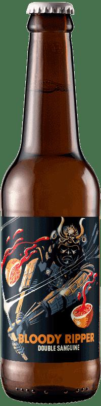 Bouteille de bière artisanale bloody ripper strong Ale Brasserie Hoppy Road