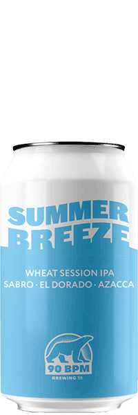 Bière Summer Breeze Wheat Session IPA brasserie 90 BPM