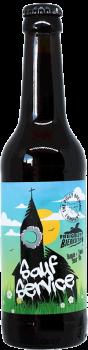 Bouteille de bière Sauf Service Sour ale Brasserie Piggy Brewing Company