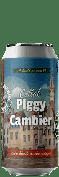 Canette de bière double neipa cambier Piggy Brewing Company