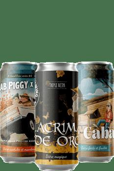 Coffret Canettes nouveautés bières artisanales Brasserie Piggy Brewing Co