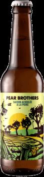 Bouteille de bière artisanale Pear Brother Saison Brasserie Hoppy Road