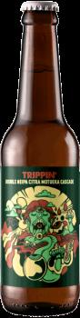 Bouteille de bière artisanale Trippin Double Neipa Brasserie Hoppy Road