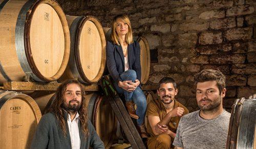 Equipe du Domaine Deliance à Givry en Bourgogne