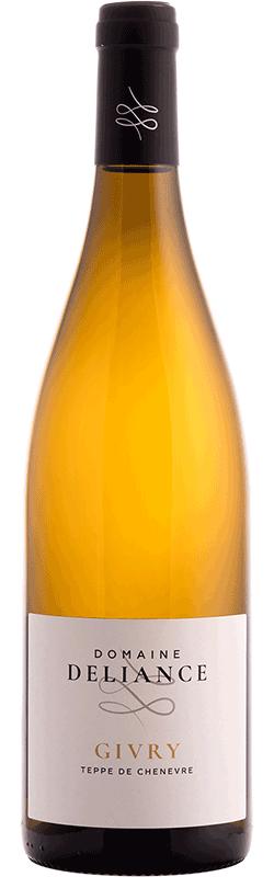 Bouteille de vin Givry blancdu Domaine Deliance