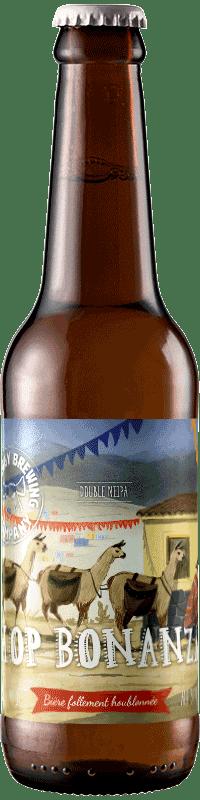 Bouteille de bière Hop Bonanza Double Neipa Brasserie Piggy Brewing Company