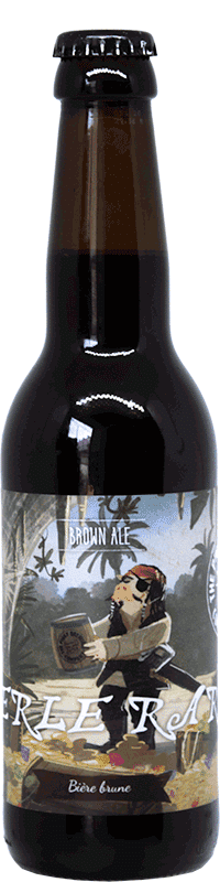 Bouteille de bière Perle Rare Brown Ale Brasserie Piggy Brewing Company