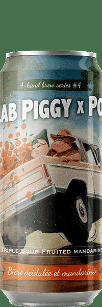 Canette de bière Collab Piggy Popihn Triple Sour Piggy Brewing Company