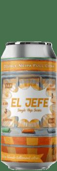 Canette de bière Brasserie El Jefe Double neipa Citra Piggy Brewing Company