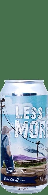 Canette de bière Less Is More Session IPA Brasserie Piggy Brewing Company