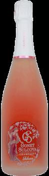 Bouteille de Champagne Rosé Sakura Gonet Sulcova