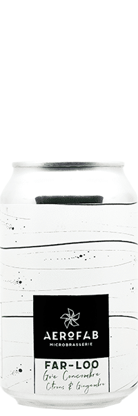 Canette de bière Farloo Gose brasserie aerofab