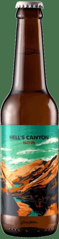 Bouteille de bière artisanale Hells Canyon Hazy IPA Brasserie Hoppy Road
