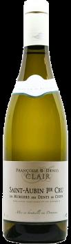 Bouteille de vin Saint-Aubin Premier Cru Murgers des dents de chien du Domaine Françoise et Denis Clair en Bourgogne