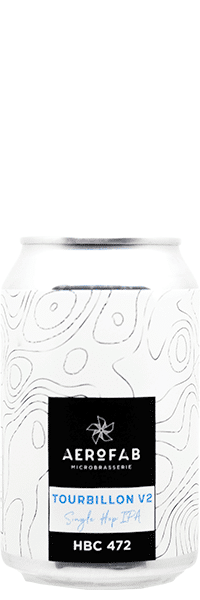 Canette de bière Tourbillon Single Hop IPA brasserie aerofab