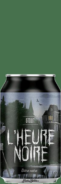 Canette de bière Stout L'heure Noire Brasserie Piggy Brewing Company