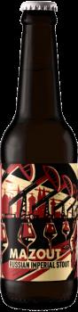 Bouteille de bière artisanale Mazzout Imperial Stout Brasserie Hoppy Road