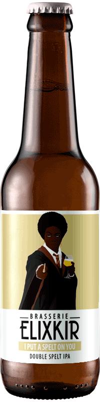 bouteille de biere artisanale ip ut a spelt on you double spelt ipa brasserie elixkir