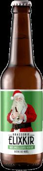 bouteille de biere de noel artisanale nos meilleurs voeux biere brasserie elixkir