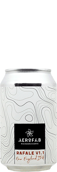 Canette de bière Rafale brasserie aerofab