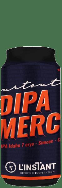 Canette de bière artisanale DIPA Merci Double India Pale Ale Brasserie L'Instant