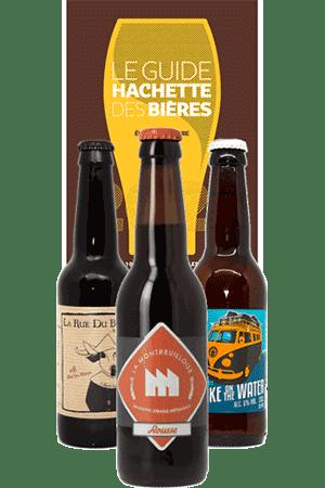 Coffret de bières artisanales et livre guide Hachette des Bières 2021