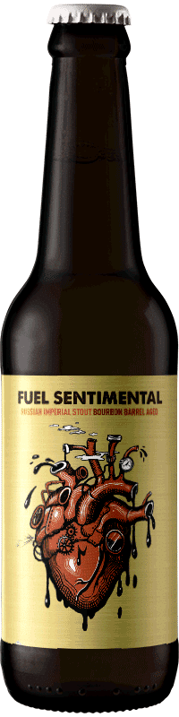 Bouteille de bière artisanale Fuel Sentimental Bourbon Barrel Aged Brasserie Hoppy Road