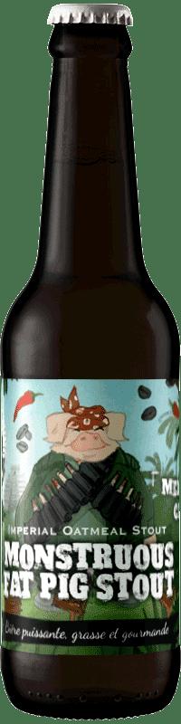 Bouteille de bière Monstruous Fat Pig Stout Brasserie Piggy Brewing Company