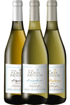 Bouteilles de vin du coffret Découverte du Domaine La Croix Montjoie