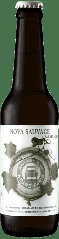 Nova Sauvage biere Saison Farmhouse de la brasserie du grand paris