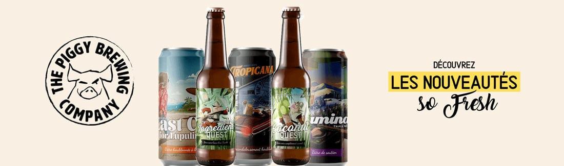 Nouveautés de la brasserie Piggy Brewing Company
