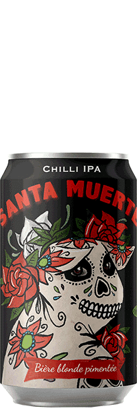Canette de bière Santa Muerte Chilli IPA Brasserie Piggy Brewing Company