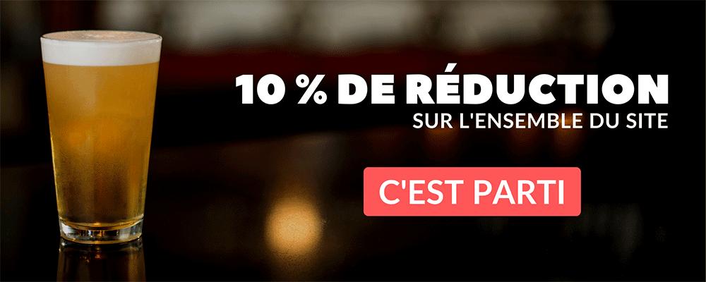 Réduction de 10% sur tout le site
