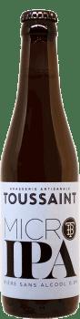 Bouteille Bière Micro IPA Sans Alcool brasserie Toussaint