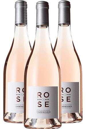 Bouteilles de vin Rose bonbon du Domaine des Diables