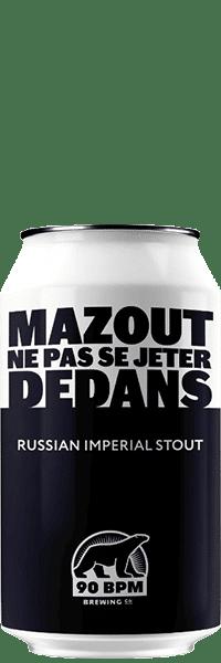 Bière Mazout Imperial Stout brasserie 90 BPM