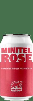 Bière Minitel Rose berliner Weisse brasserie 90 BPM
