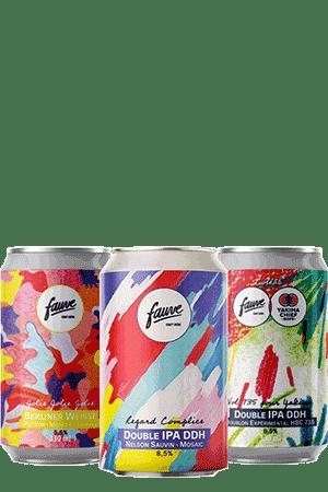 Coffret Canettes nouveautés bières artisanales Brasserie Fauve Craft Biere
