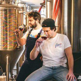 Antoine et Cyprien de la brasserie Fauve Craft Bière