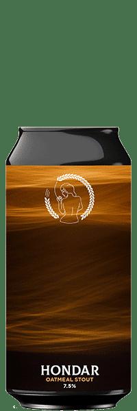 Canette de bière HONDAR Oatmeal Stout Brasserie La Superbe