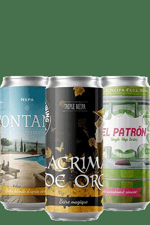 Coffret Neipa Canettes nouveautés bières artisanales Brasserie Piggy Brewing Co