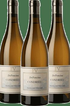 Bouteilles de vin Condrieu Deponcins du Domaine François Villard